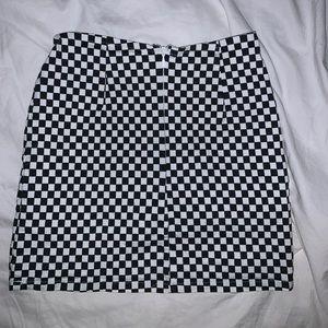 LF Skirts - Wild Honey checkered mini skirt